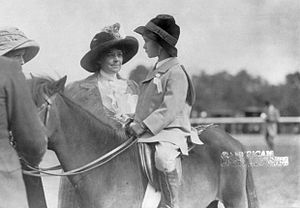 Helen Hay Whitney - Helen Hay Whitney and her six-year-old son, John Hay Whitney (October 12, 1910)