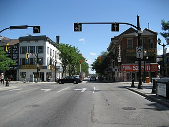 John Street (Hamilton, Ontario) - John Street at King, looking North