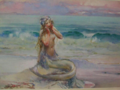 John Reinhard Weguelin – Mermaid (1911).png