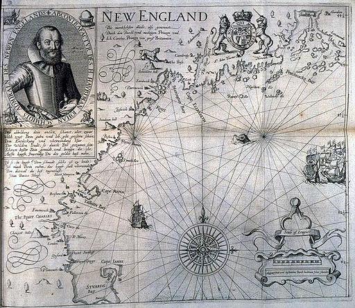 John Smith 1616 New England map
