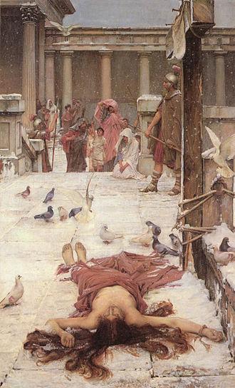 Saint Eulalia (Waterhouse painting) - Image: John William Waterhouse Saint Eulalia 1885