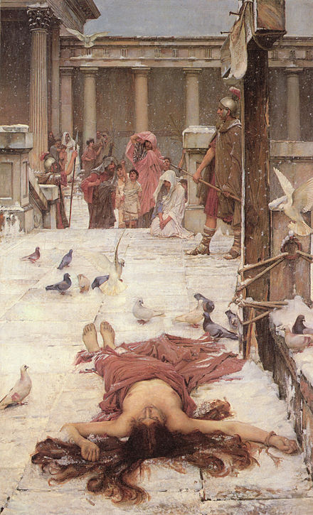 Saint Eulalia, by John William Waterhouse, 1885, Tate collection. John William Waterhouse - Saint Eulalia - 1885.jpg