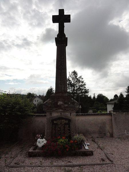 Jolivet (M-et-M) monument aux morts (croix au cimetière)