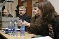 Jonathan Motzfeldt Gronland, Anfinn Kallsberg, Landsstyreformand Faroarna, Hoydal vice lagman Faroarna och Siv Fridleifsdottir, Miljoe- og nordisk samarbejdsminister, vid mote om vastnorden, sessionen i Oslo 2003.jpg