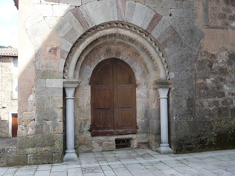 Portal of the abbey church Benedictine of Joncels