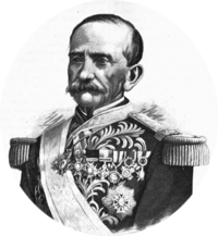 Painting of José Mariano Salas in uniform