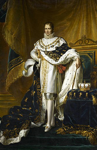 Joseph Bonaparte - Portrait as King of Spain by François Gérard, 1808