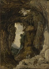 Landscape with Grotto and a Rider