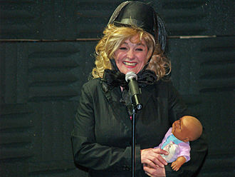 Julie Brown - Brown performing in 2008 at The Public Theater in New York City.