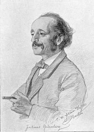 Julius Rodenberg - Julius Rodenberg, 1889, by C.W.Allers