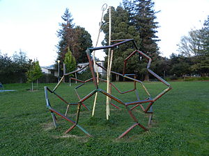 Ohlone Greenway - Public sculpture along the Greenway dating from the People's Park annex period