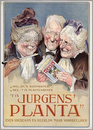 """Nederlands: Affiche: """"Wel, da's roomboter..."""