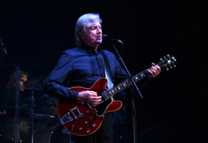Justin Hayward performing in 2018