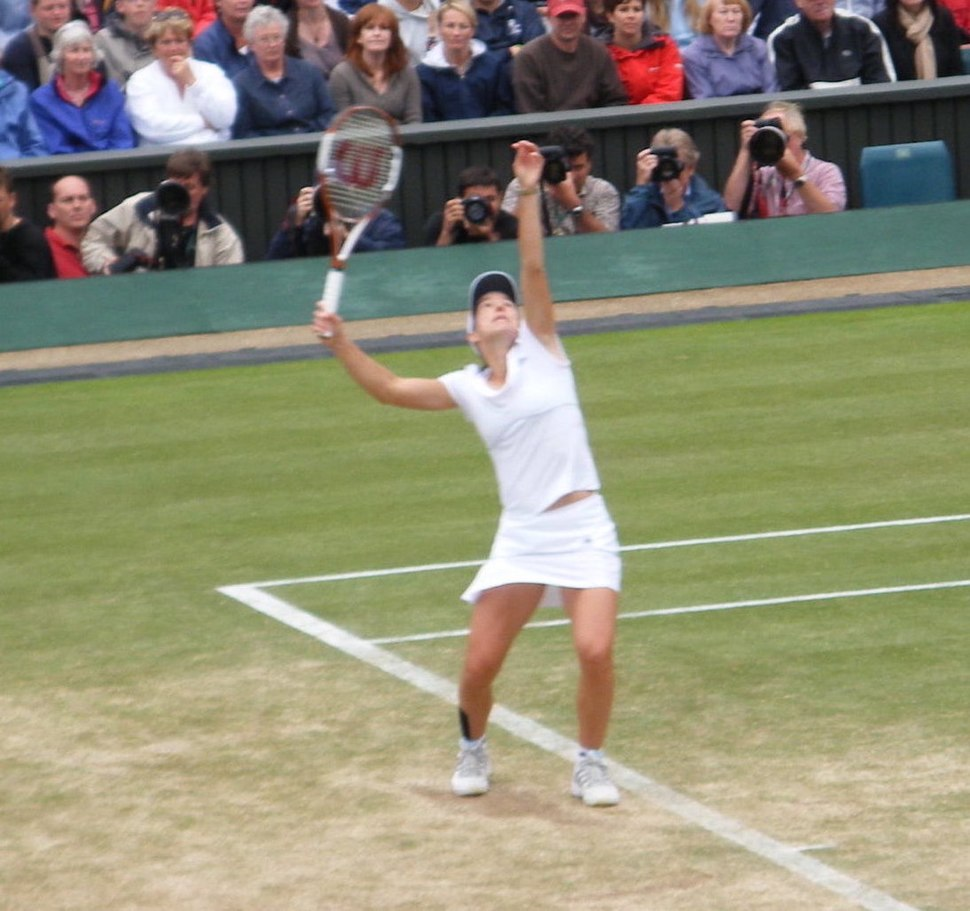 Justine Henin On Centre Court