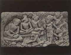 KITLV 151387 - Isidore van Kinsbergen - Bas-relief with a scene from the Ramayana at the residency in Kediri - 1866-12-1867-01.tif