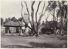 KITLV 3846 - Kassian Céphas - First court of banyan trees at Pasar Gede - 1896.tif