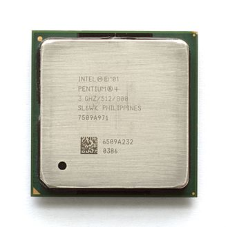 Hyper-threading - A 3 GHz model of the Intel Pentium 4 processor that incorporates Hyper-Threading Technology