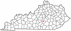 Location of Liberty, Kentucky