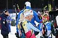 Kaisa Mäkäräinen celebrates winning Overall World Cup trophy in the last race of season (43297979095).jpg