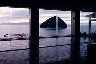 Onsen - Indoor onsen at Asamushi Onsen
