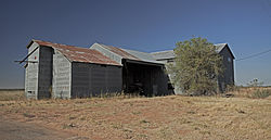 Abandoned cotton gin in Kalgary