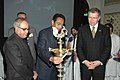 "Kamal Nath lighting the lamp to inaugurate the International Seminar on ""Saving Doha and Delivering on development"", and the Union Minister of External Affairs, Shri Pranab Mukherjee presided over the function, in New Delhi.jpg"