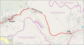 Angren–Pap railway line - Image: Kamchiq Tunnel