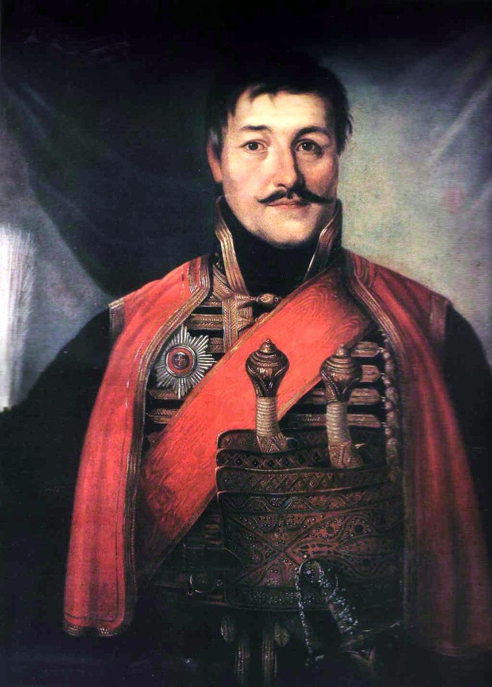 Karađorđe Petrović, by Vladimir Borovikovsky, 1816