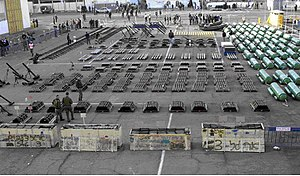 "Military equipment confiscated from MV ""Karine A"""