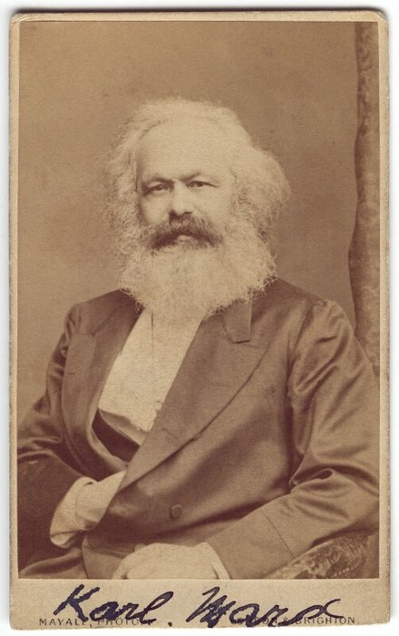 Karl Marx, who synthesized anti-religious philosophy with materialism to show that religion is a social construct used for social control by the ruling class of a society