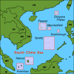 Anambas location in the South China Sea.