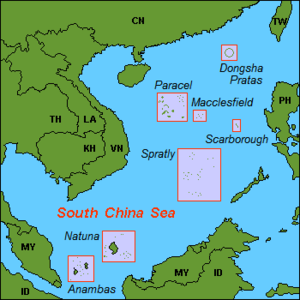 South China Sea Islands - Locations in the South China Sea