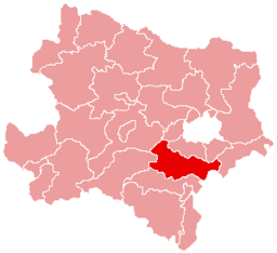 Bezirk Baden location map