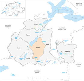 Map of Sachseln