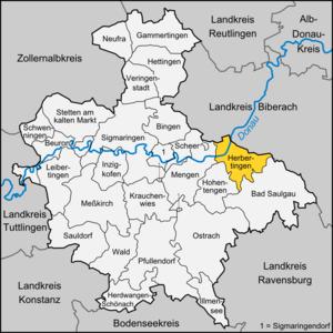 Herbertingen - Image: Karte Herbertingen