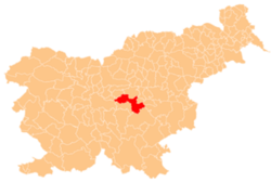 Location of the Municipality of Litija in Slovenia