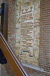 kasteeltoren, tekstplaquette naast de entree - nieuwkuijk - 20333295 - rce