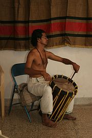 Kathakali drummer