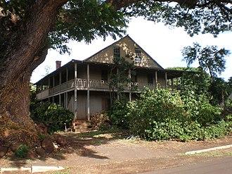 Gulick-Rowell House - Image: Kauai Waimea Gulick Rowell house frontfar