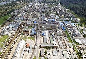 Kazincbarcika - Aerial view of Borsod Chemic Factory