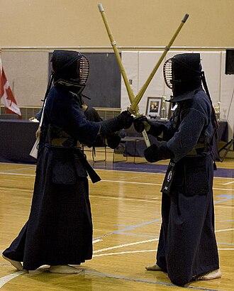 Bōgu - Kendo practitioners wearing bogu in training