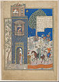 Khusraw at the castle of Shirin, from a manuscript of the Khusraw and Shirin by Nizami - Google Art Project.jpg