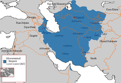 Location of Khwarazmian Empire