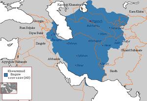 Khwarezmian Empire 1190 - 1220 (AD).PNG