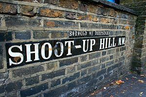 Edgware Road - Shoot-up Hill, one of several names for Edgware Road.