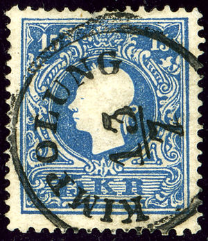 Câmpulung Moldovenesc - Austrian KK stamp, issue 1859, cancelled at Kimpolung