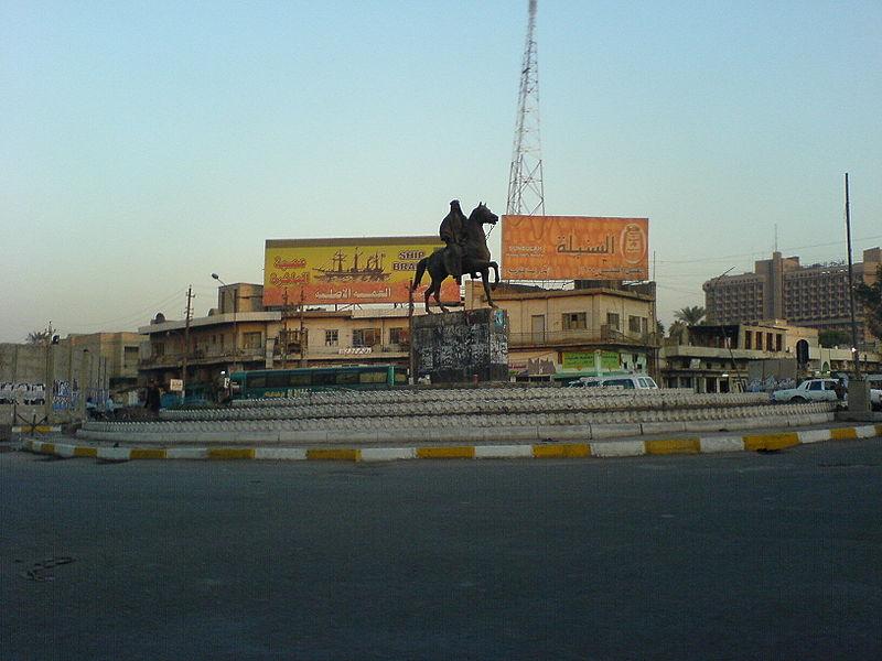 https://upload.wikimedia.org/wikipedia/commons/thumb/1/14/King_Faisal%27s_statue_at_the_end_of_Haifa_street.jpg/800px-King_Faisal%27s_statue_at_the_end_of_Haifa_street.jpg