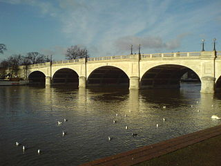 road bridge at Kingston upon Thames in south west London, England