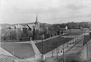 Jyväskylä - Kirkkopuisto Park in the early 1900s