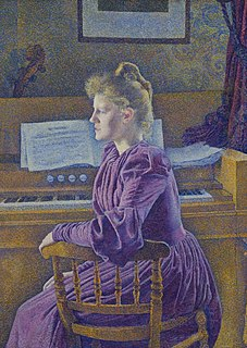 <i>Maria Sèthe at the Harmonium</i> Painting by Théo van Rysselberghe